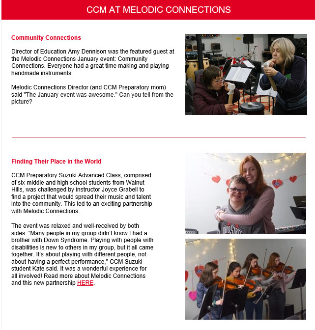CCM Newsletter article